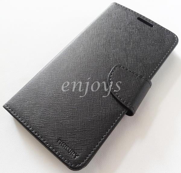 MERCURY Fancy Diary Book Case Cover Pouch Huawei Honor 4X ~BLACK *XPD