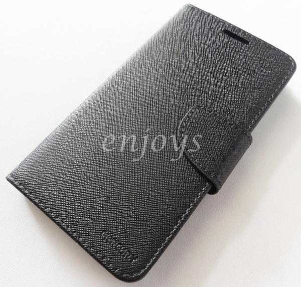 MERCURY Fancy Diary Book Case Cover Pouch Lenovo A388T ~ALL BLACK *XPD