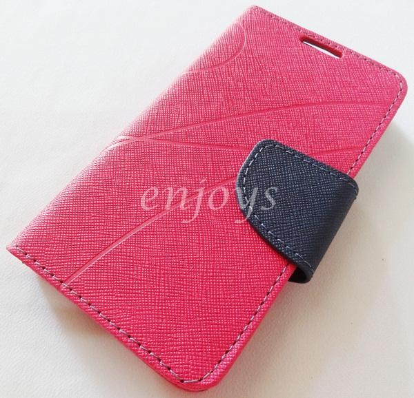 MERCURY Fancy Diary Book Case Cover Pouch Lenovo A390 ~HOTPINK