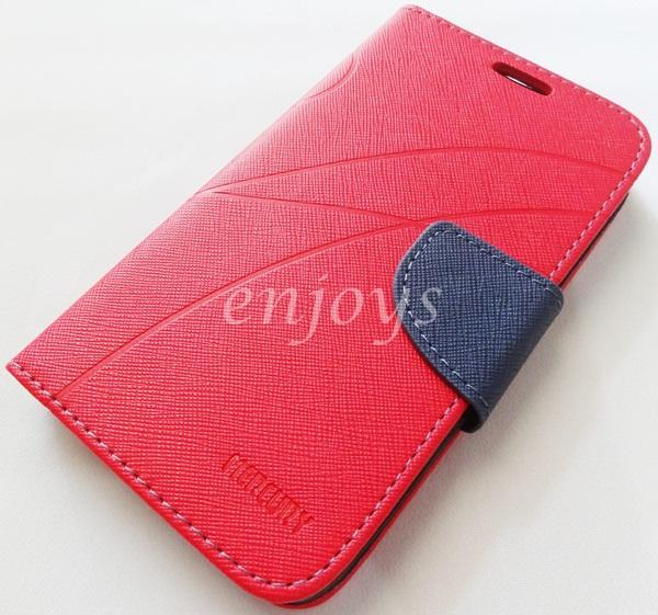 MERCURY Fancy Diary Book Case Cover Pouch Lenovo A529 ~RED *XPD