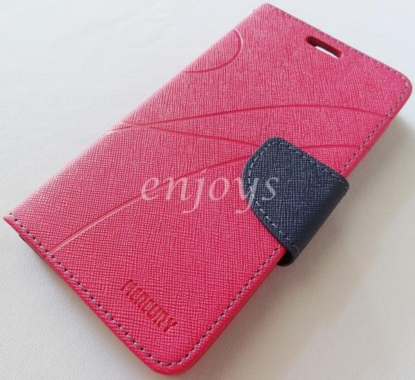 MERCURY Fancy Diary Book Case Cover Pouch Lenovo A656 ~Hotpink *XPD