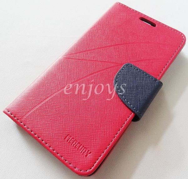 MERCURY Fancy Diary Book Case Cover Pouch Lenovo A680 ~HOTPINK *XPD