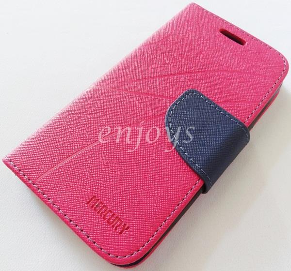 MERCURY Fancy Diary Book Case Cover Pouch Lenovo A706 ~Hotpink *XPD