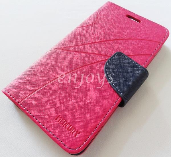 MERCURY Fancy Diary Book Case Cover Pouch Lenovo A766 ~Hotpink *XPD