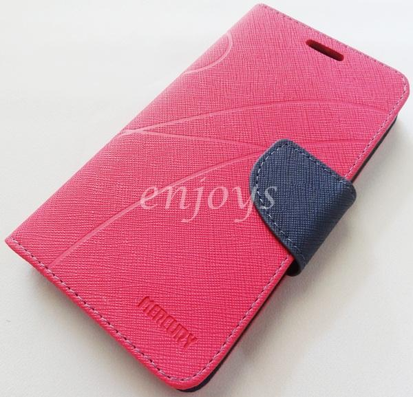 MERCURY Fancy Diary Book Case Cover Pouch Lenovo A859 ~Hotpink *XPD