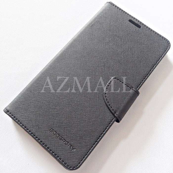 MERCURY Fancy Diary Book Case Cover Pouch Lenovo A880 A889 ~ALL BLACK