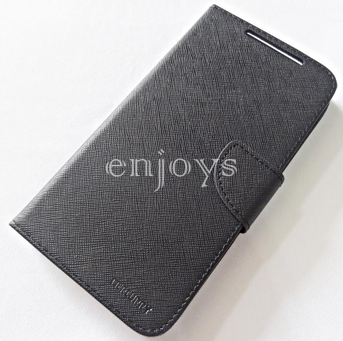 MERCURY Fancy Diary Book Case Cover Pouch Lenovo A880 A889 ~BLACK *XPD