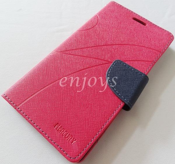 MERCURY Fancy Diary Book Case Cover Pouch Lenovo K900 ~Hotpink