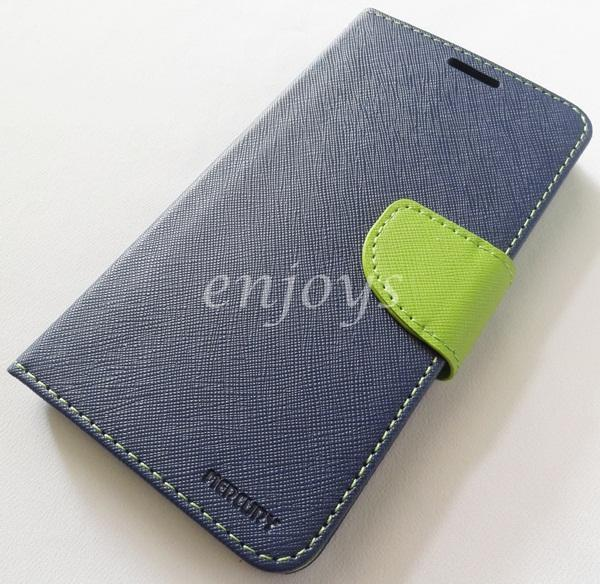 MERCURY Fancy Diary Book Case Cover Samsung Galaxy J7 /J700F NAVY *XPD