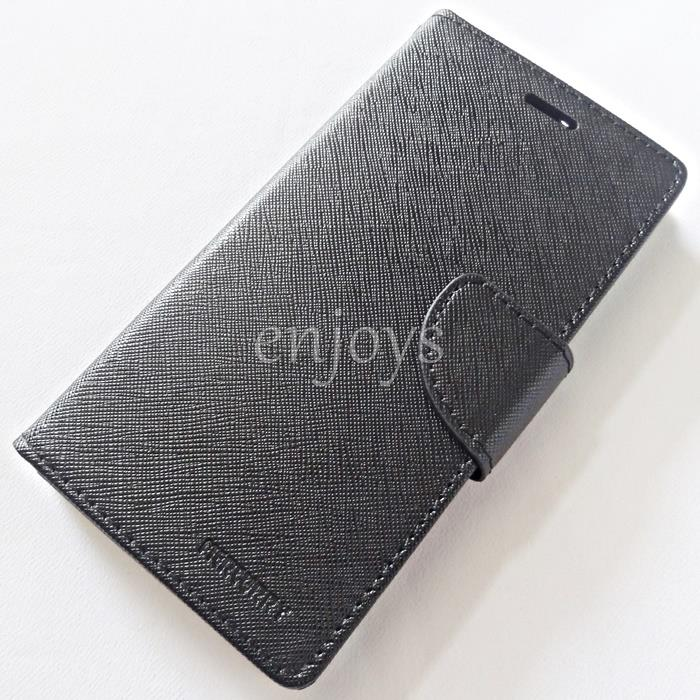 MERCURY Fancy Diary Book Case Flip Cover Huawei Honor 8 (5.2) ~BLACK