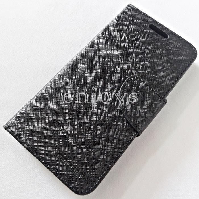 MERCURY Fancy Diary Book Case Flip Cover Oppo A37 (5.0) ~BLACK
