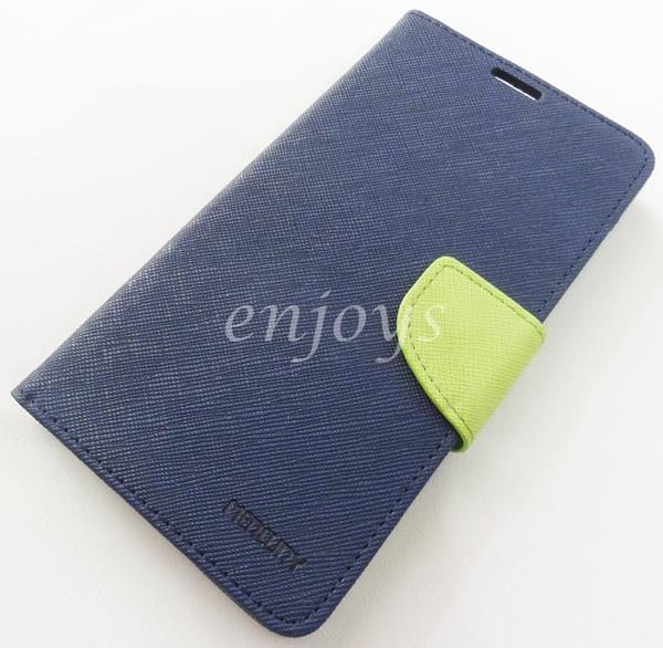 MERCURY Fancy Diary Book Case Flip Cover Pouch Lenovo S856 ~NAVY *XPD