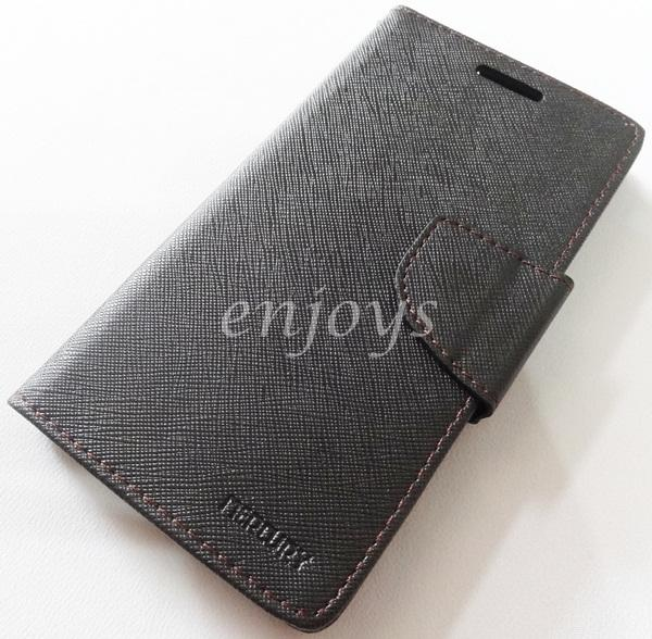 MERCURY Fancy Diary Book Case Pouch Samsung I9300 Galaxy S3 BLACK *XPD