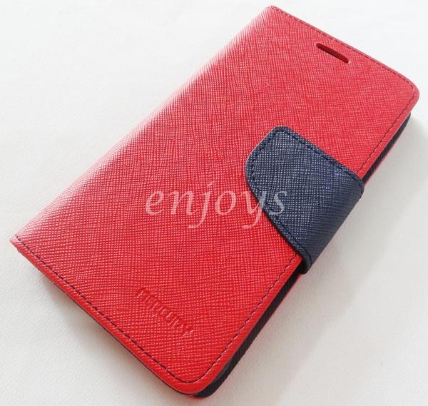 MERCURY Fancy Diary Book Case Samsung Galaxy Alpha G850F ~RED *XPD