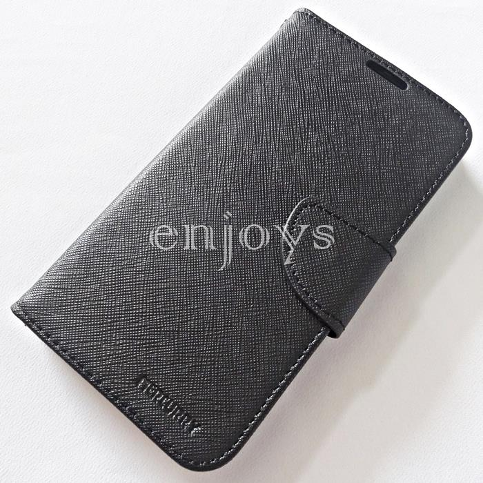 MERCURY Fancy Diary Book Case Samsung Galaxy Grand I9082 ~BLACK *XPD
