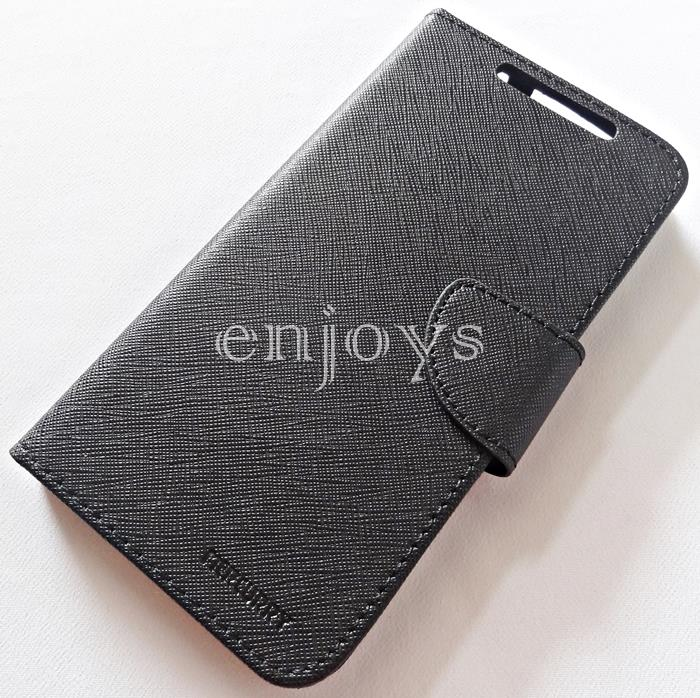MERCURY Fancy Diary Book Stand Case Flip Cover Lenovo S920 ~BLACK *XPD