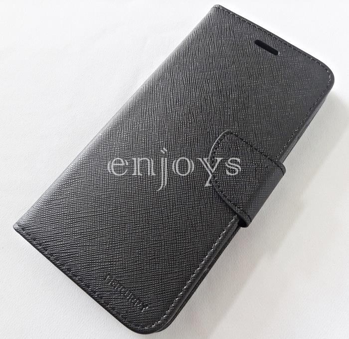 MERCURY Fancy Diary Case Cover Apple iPhone 7 Plus (5.5) ~BLACK *XPD