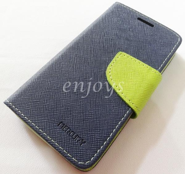 MERCURY Fancy Diary Case Cover Asus Zenfone 4 (4.0) A400CG ~NAVY *XPD