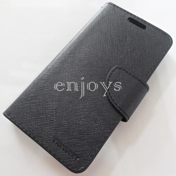 MERCURY Fancy Diary Case Cover Samsung Galaxy A5 /A500F ~BLACK *XPD