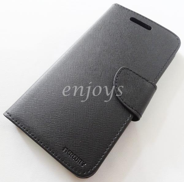 MERCURY Fancy Diary Case Cover Samsung Galaxy J7 /J700F ~BLACK *XPD