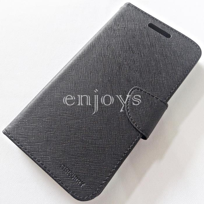 MERCURY Fancy Diary Case Cover Samsung Galaxy Mega 5.8 I9152 ~BLK *XPD
