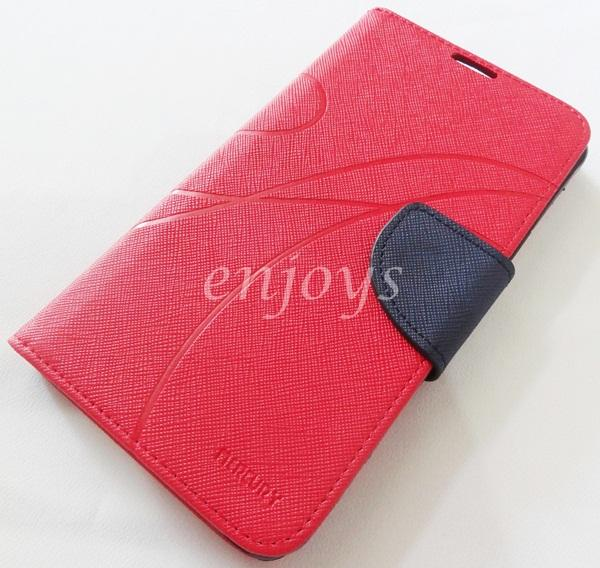MERCURY Fancy Diary Case Cover Samsung Galaxy Note 4 /N910C ~RED *XPD
