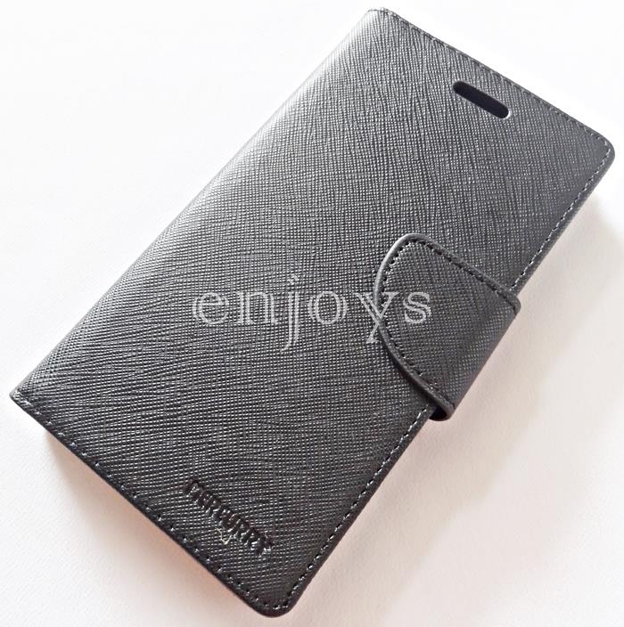 MERCURY Fancy Diary Case Cover Sony Xperia M2 Aqua /M2 Dual BLACK *XPD