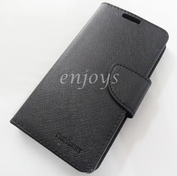 MERCURY Fancy Diary Case Cover Sony Xperia Z / L36h C6603 ~BLACK *XPD