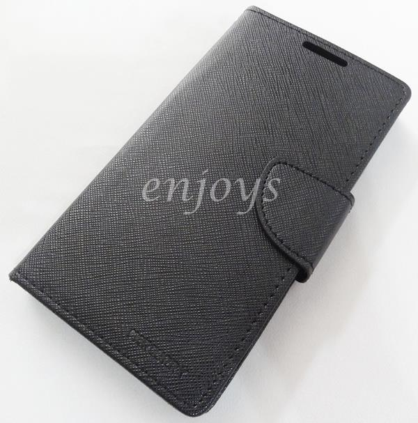 MERCURY Fancy Diary Case Cover Sony Xperia Z1 / C6903 L39h ~BLACK *XPD