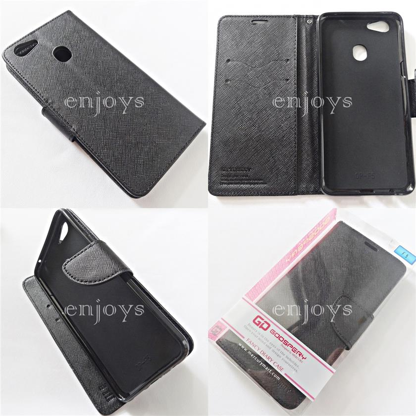 MERCURY Fancy Diary Case Flip Cover for Oppo F5 /F5 Youth (6.0) ~BLACK