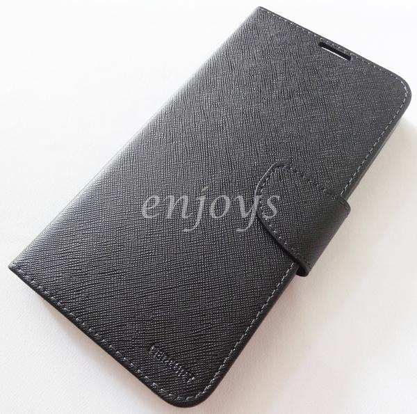 MERCURY Fancy Diary Case Flip Cover Pouch Lenovo S930 ~ALL BLACK