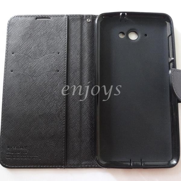 MERCURY Fancy Diary Case Flip Cover Pouch Lenovo S930 ~ALL BLACK *XPD