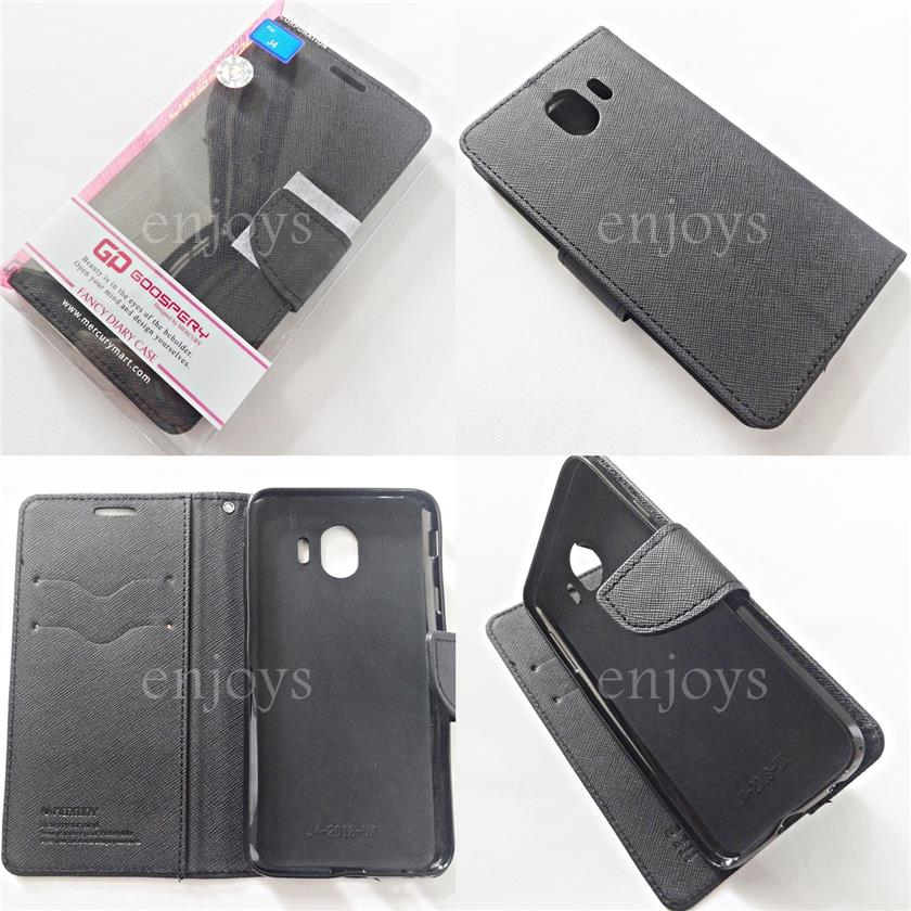 premium selection 15e4f 94398 MERCURY Fancy Diary Case Flip Cover Samsung Galaxy J4 / J400F ~BLACK