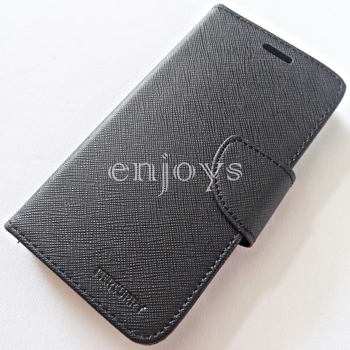 MERCURY Fancy Diary Case Samsung Galaxy Grand Quattro I8552 BLACK *XPD