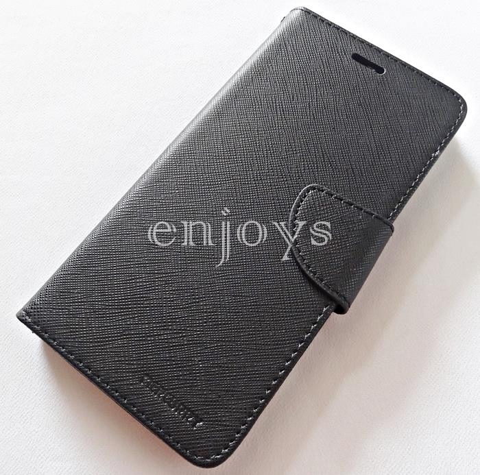 MERCURY Fancy Diary Stand Case Cover Huawei P10 Plus (5.5) ~BLACK *XPD