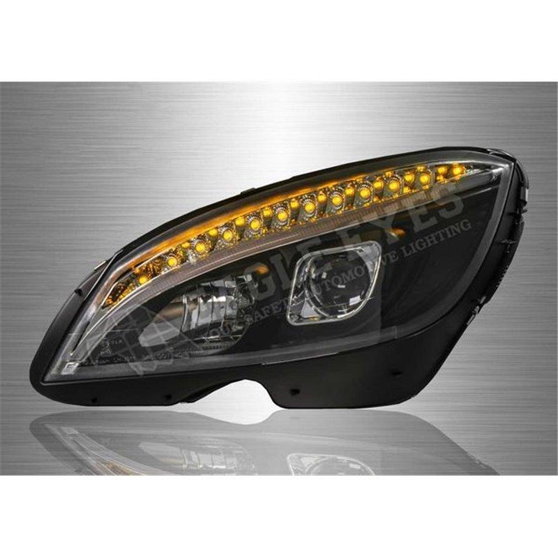 MERDECEDES-BENZ C-CLASS W204 08–14 LED DRL Projector Head Lamp