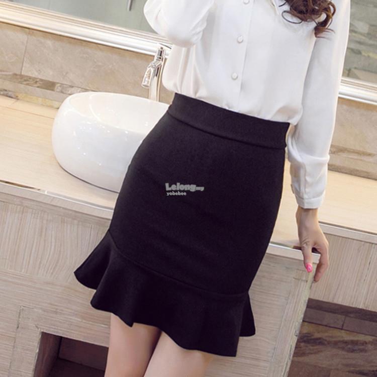 302dc9e3 Mermaid Short Skirt in Black