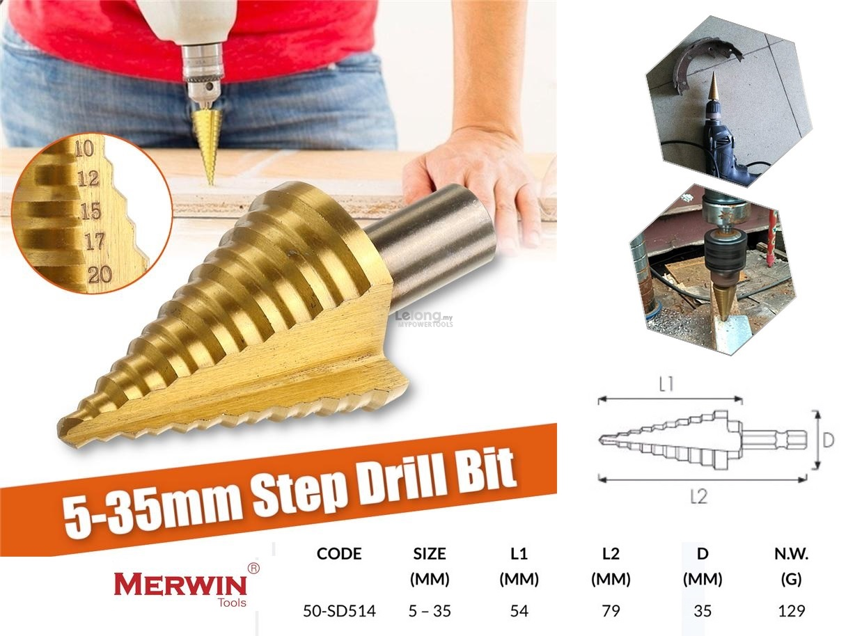Merwin 5-35mm x 2-3mm HSS Multiple Holes Step Drill