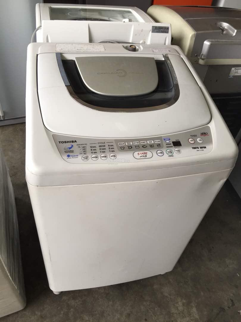 Mesin Basuh 10kg Automatic Mesin Toshiba Basuh Top Load Refurbish