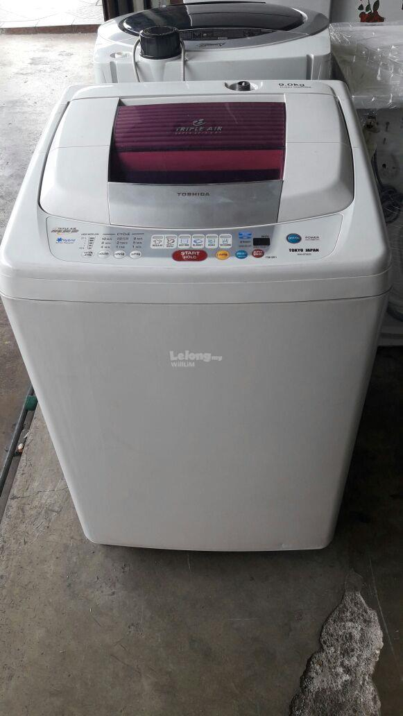 Mesin Basuh Toshiba 9kg Washing Machine Automatic Refurbish Auto Fully