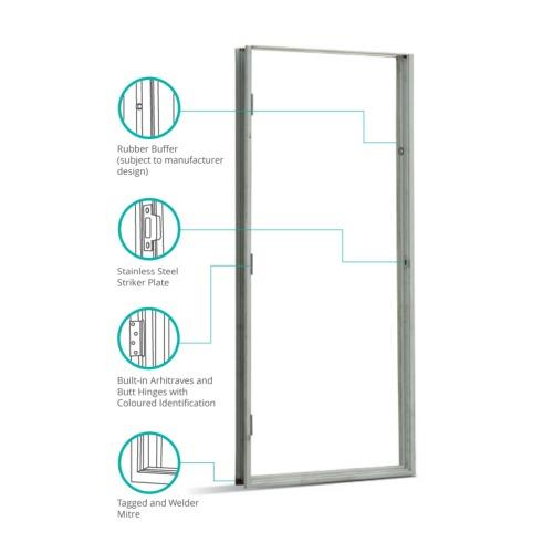 "Amazing TH Metal Door Frame Box EG x 0 80tct 34"" Trending - Elegant door with door frame For Your Plan"