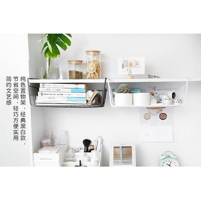 Metal Hanging Under Shelf Drawer Storage Organizer Basket