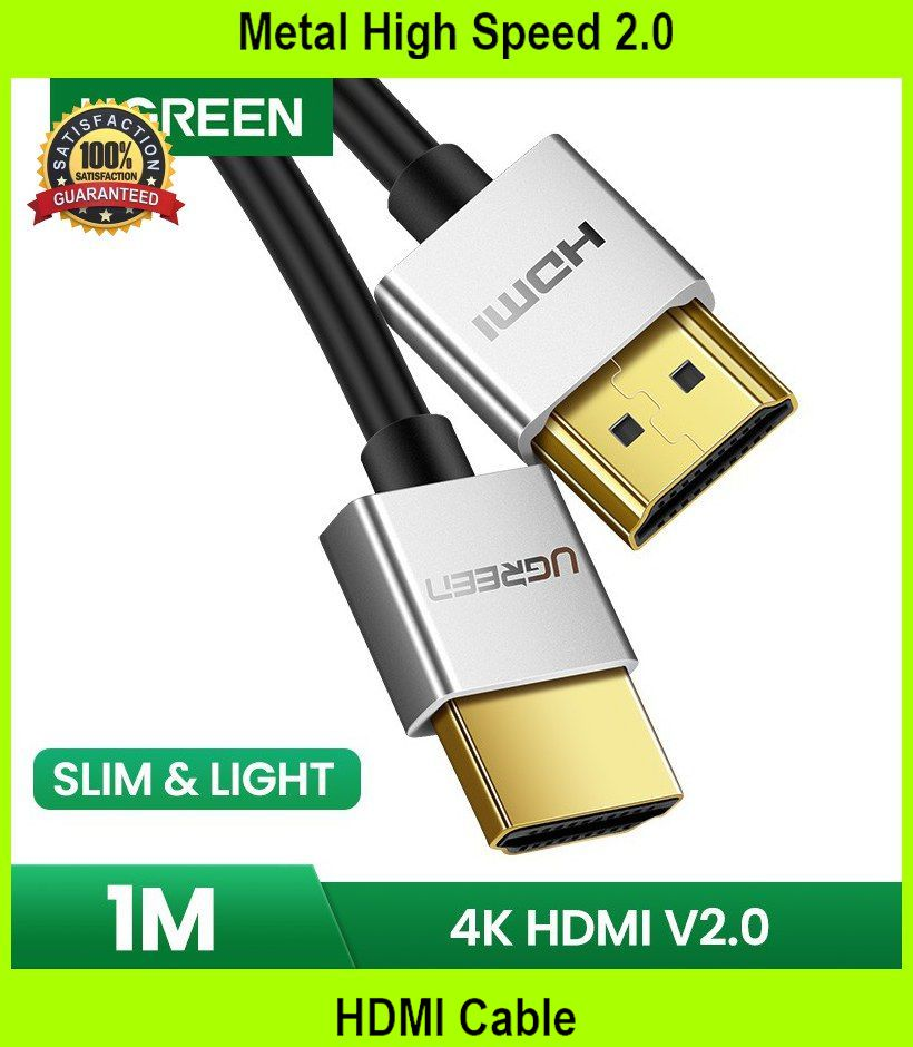 Metal High Speed 2.0 HDMI Cable - [BLACK + 1M]