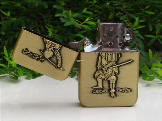 Metal Oil Lighter Set 3D Ancient Troops (4 nos)