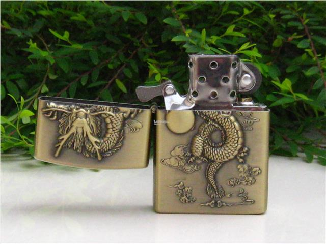 Metal Oil Lighter Set 3D DRAGON Design Set 1 (4 nos)