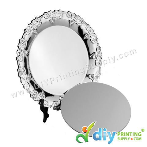 "Metal Plate (Round) (8"") with Stand"