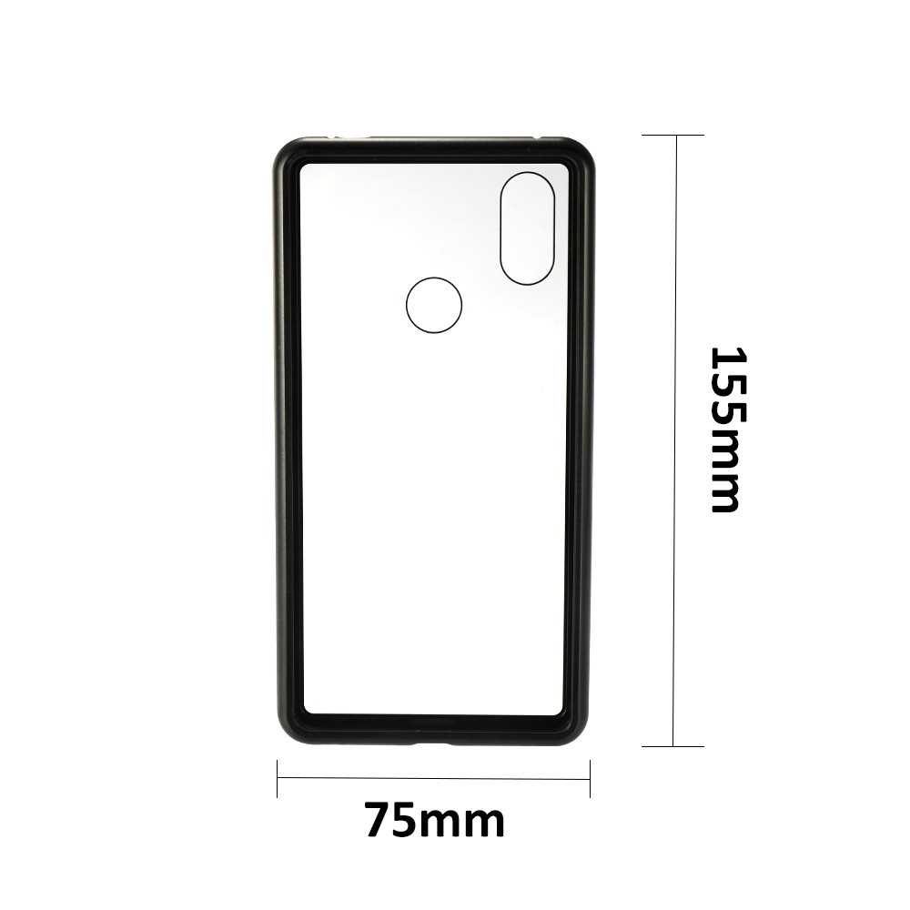 Metal-rimmed Mobile Phone Case Hardened Glass Magnetic Adsorption Protection S