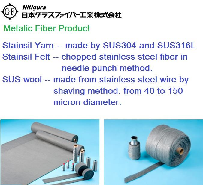 Metalic stainless steel fiber yarn f end 4 24 2019 2 15 pm for Steel wool insulation