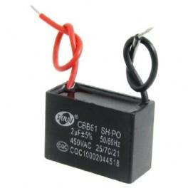 Metallized Capacitor for Motor Start-up Ceiling Fan 450VAC 2uF