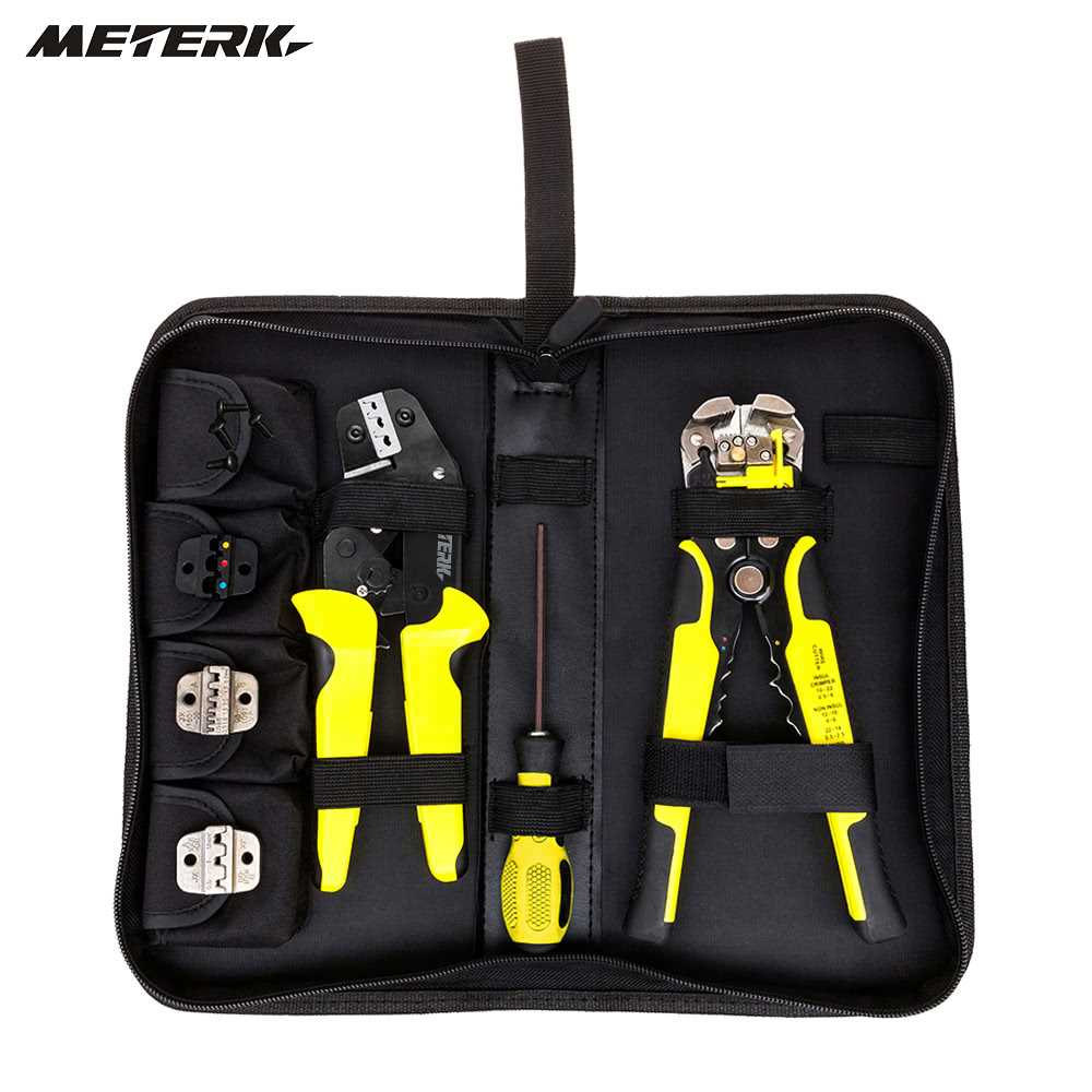 Meterk 4 In 1 Wire Crimpers Ratcheting Terminal  Crimping Pliers